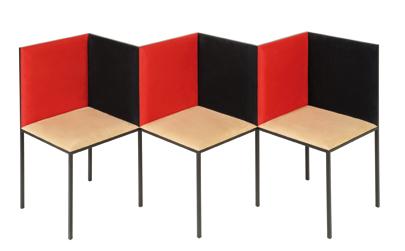 Illusion bench and chair 2222 edition design purpose for Objet decoration design contemporain